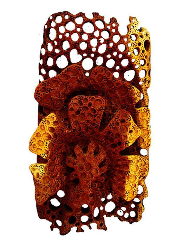 هنر سایر محفل سایر هنر ها faryotab گل وبرگ انتزاعی  متریال :چوب درخت توت  هنر دست
