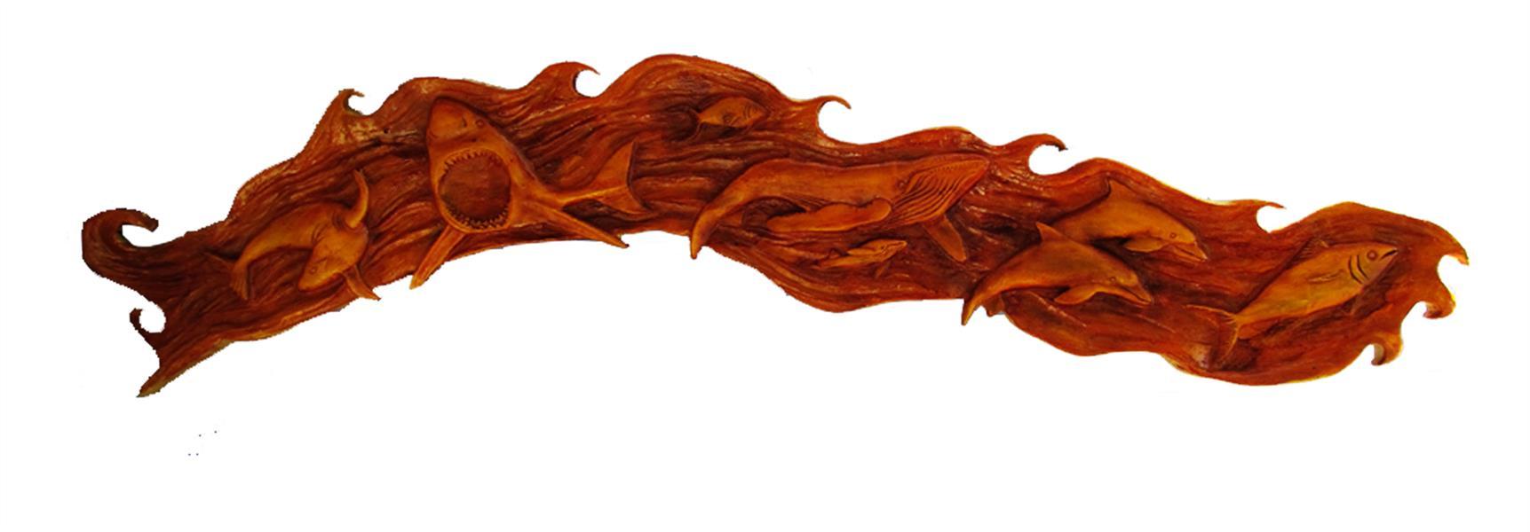 هنر سایر محفل سایر هنر ها faryotab اقیانوس  متریال :چوب درخت چنار  هنر دست  سایز :1.20 *25