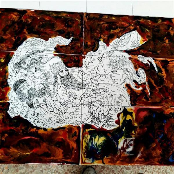 هنر سایر محفل سایر هنر ها آذر نگار آشوب سیاه وسفید .