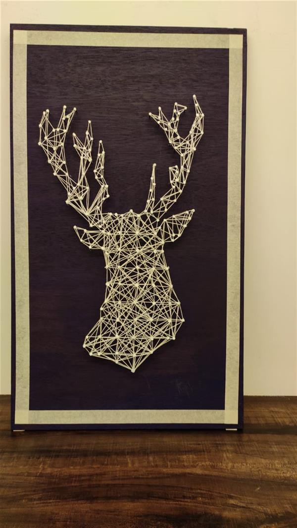 هنر سایر محفل سایر هنر ها Roney jo varghese Completely hand made string art for sale! Made out on wooden base with proper nail length to give appropriate 3D effect! The art form is very suitable for homes/ space with classic interior theme and the art lovers will love it's Uniqueness. 