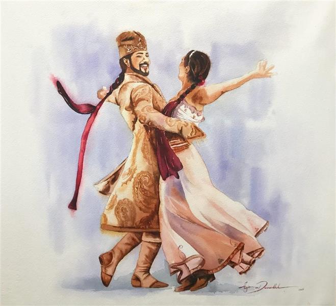 هنر نقاشی و گرافیک طرح گرافیکی عاشقانه azita تکنیک آبرنگ