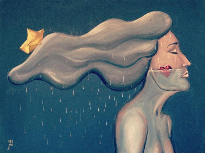 هنر نقاشی و گرافیک طرح گرافیکی عاشقانه Sahar khosravi عشق پر شدن از احساس و آشوب است گاهی راه نفس را میبندد گاه نسیمی در موهای زنی است گاه موجی که کشتی هایمان را غرق میکند