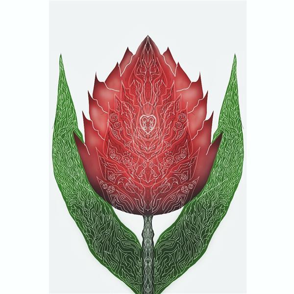 هنر نقاشی و گرافیک طرح گرافیکی عاشقانه امیرسالار لاکچی طراحی گل عاشق با موبایل