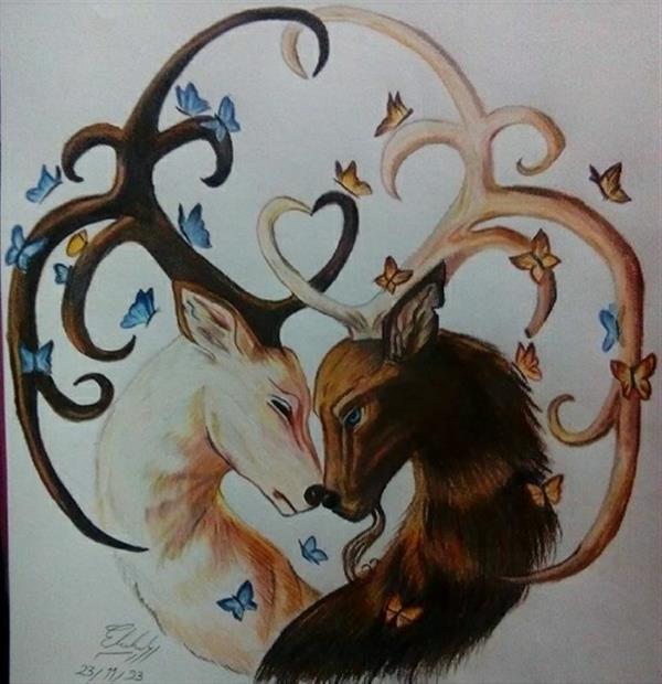 هنر نقاشی و گرافیک طرح گرافیکی عاشقانه الهه فتاحی