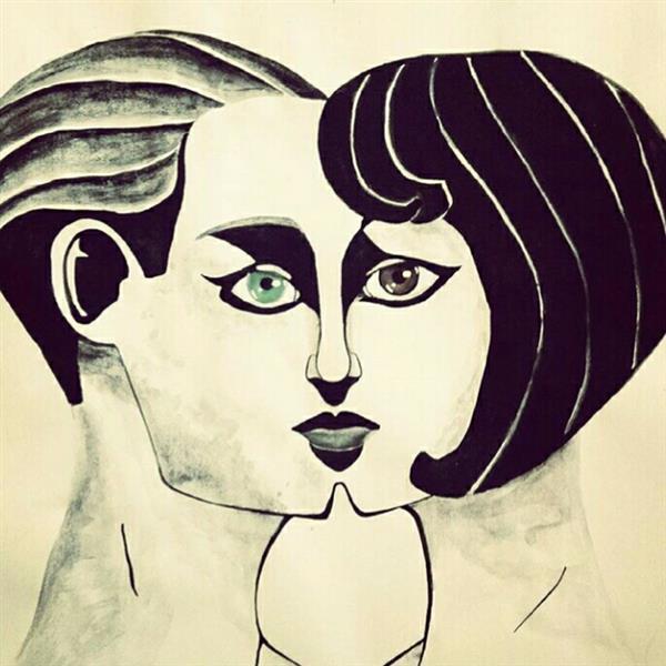 هنر نقاشی و گرافیک طرح گرافیکی عاشقانه یاسمن امیری
