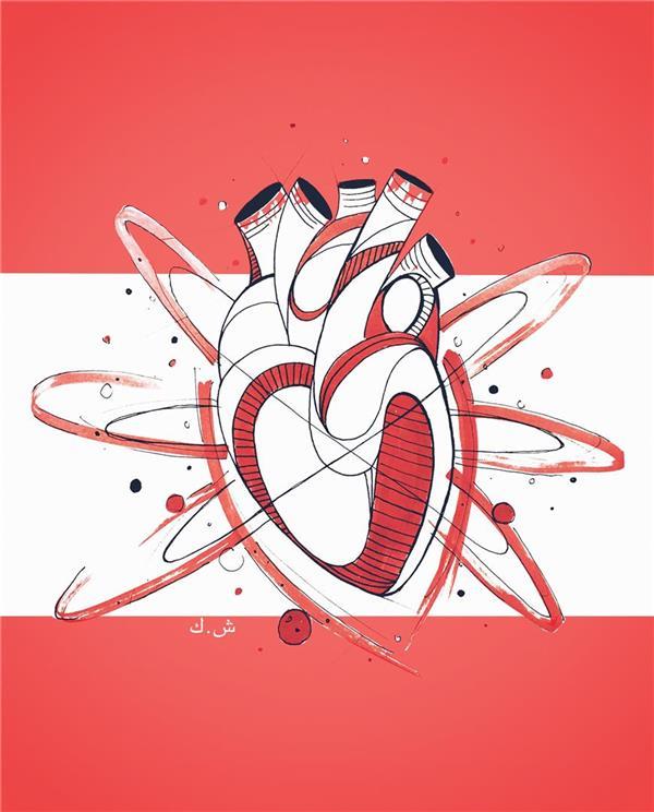هنر نقاشی و گرافیک طرح گرافیکی عاشقانه ShaHeeN keshavarz flag of love  پرچم عشق ماژیک راپید
