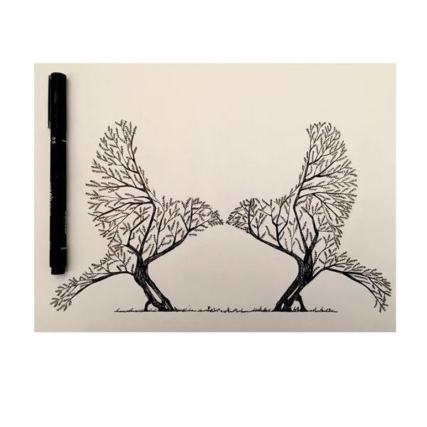 هنر نقاشی و گرافیک طرح گرافیکی عاشقانه زهرا نوروزی