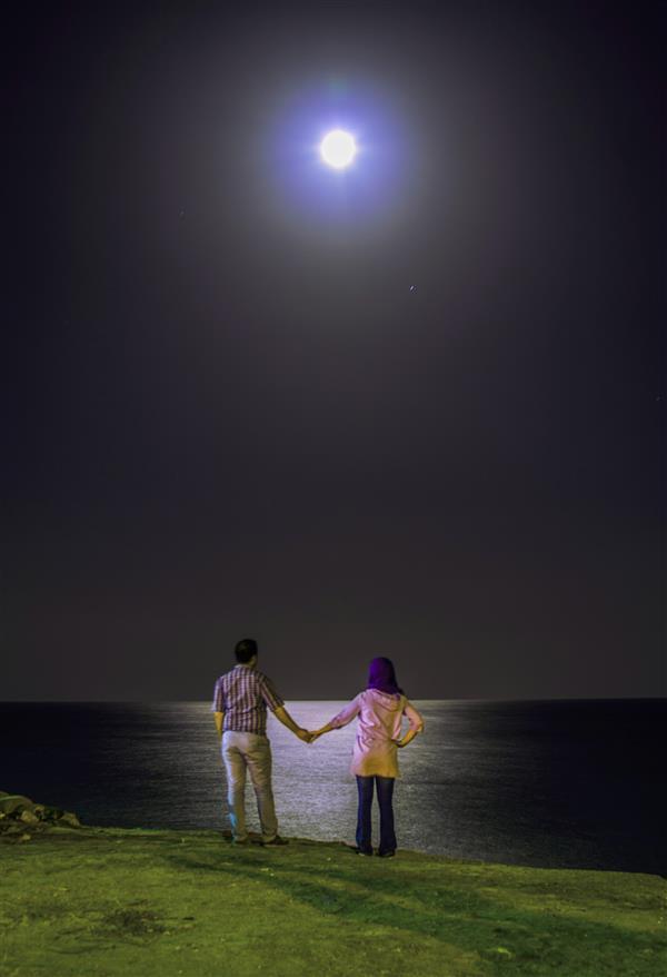 هنر عکاسی عکاسی در شب علیرضا ناصری  دریای عمان/ بندر جاسک