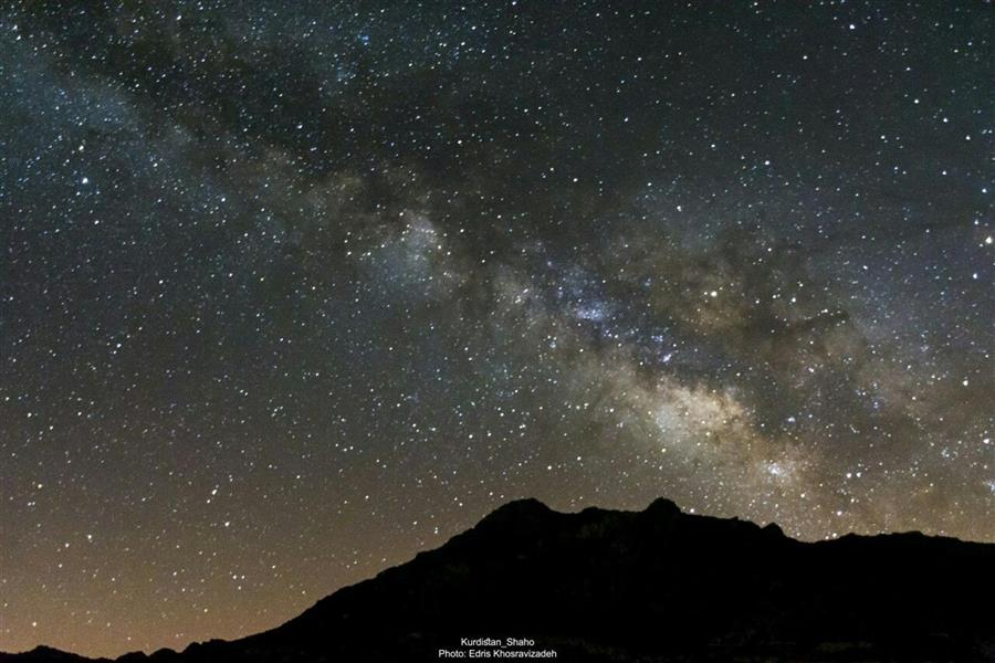 هنر عکاسی عکاسی در شب Edris Khosravizadeh کهکشان راه شیری در کوهستان شاهو