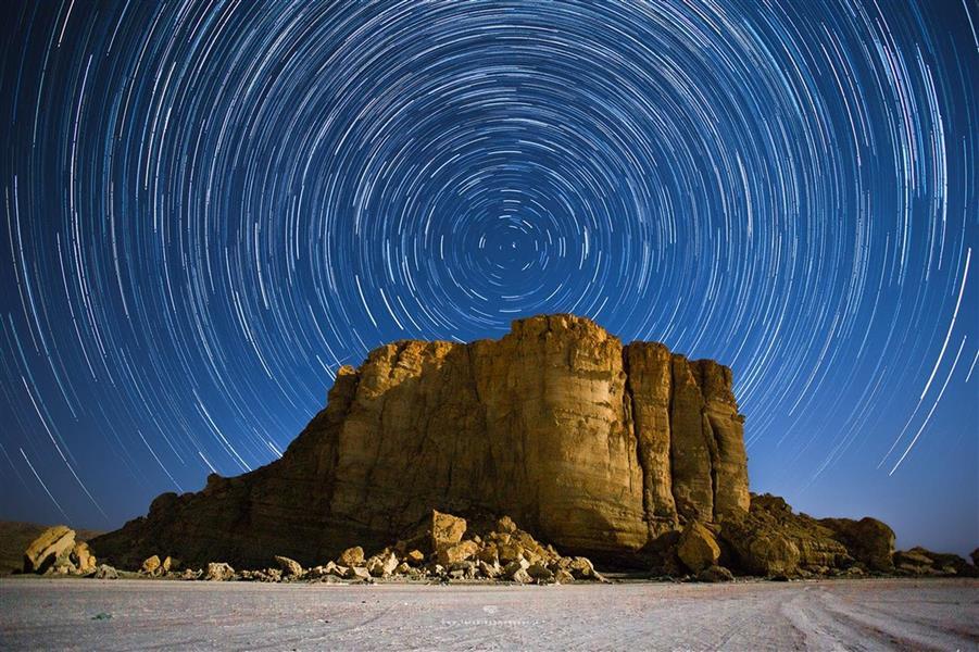 هنر عکاسی عکاسی در شب فرشید احمدپور منطقه قوش قلعه سی . دریاچه ارومیه / رد ستارگان