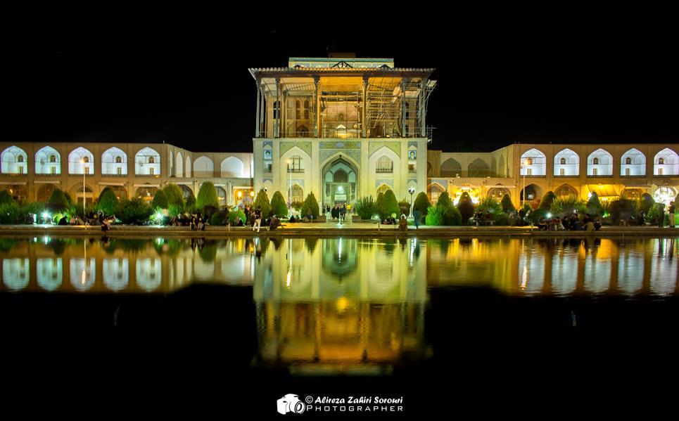 هنر عکاسی عکاسی لنداسکیپ منظره علیرضا ظهیری سروری ساختمان عالی قاپو اصفهان