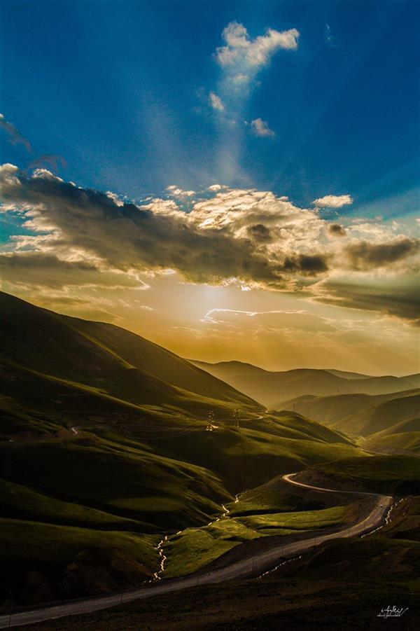 هنر عکاسی عکاسی لنداسکیپ منظره سهند قلیزاده جاده اسالم به خلخال