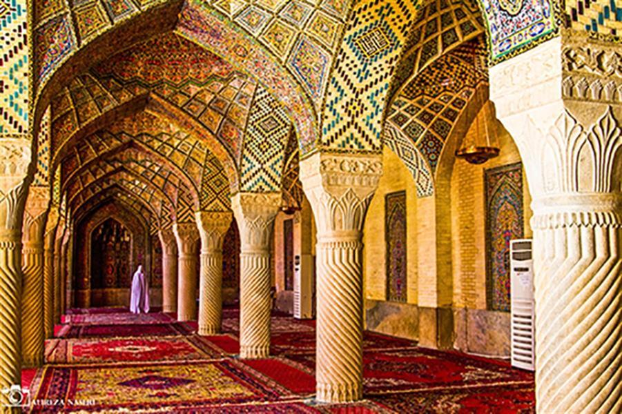 هنر عکاسی عکاسی فرهنگ ایرانی علیرضا ناصری  شیراز/ مسجد نصیرالملک