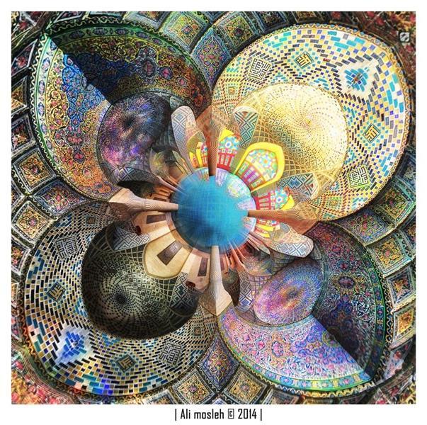 هنر عکاسی عکاسی فرهنگ ایرانی علی مصلح مسجد رنگها colourful Mosque