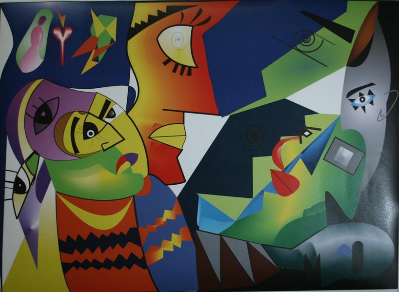 هنر نقاشی و گرافیک تصویرسازی هانیه اسلامیه نام اثر:آمدن و رفتن تکنیک آکرولیک  انتزاعی