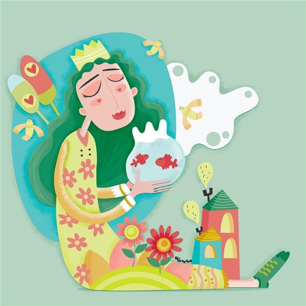 هنر نقاشی و گرافیک تصویرسازی مهشید رجایی تصویرسازی - موضوع : #بهار