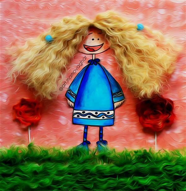هنر نقاشی و گرافیک تصویرسازی معصومه احمدی موقر دختر نازنین  #تصویر_سازی #کلاژ