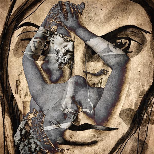 هنر نقاشی و گرافیک تصویرسازی پیام یاسینی نام: تعرض تکنیک: دیجیتال میکس مدیا روی بوم ابعاد: ۵۰*۵۰