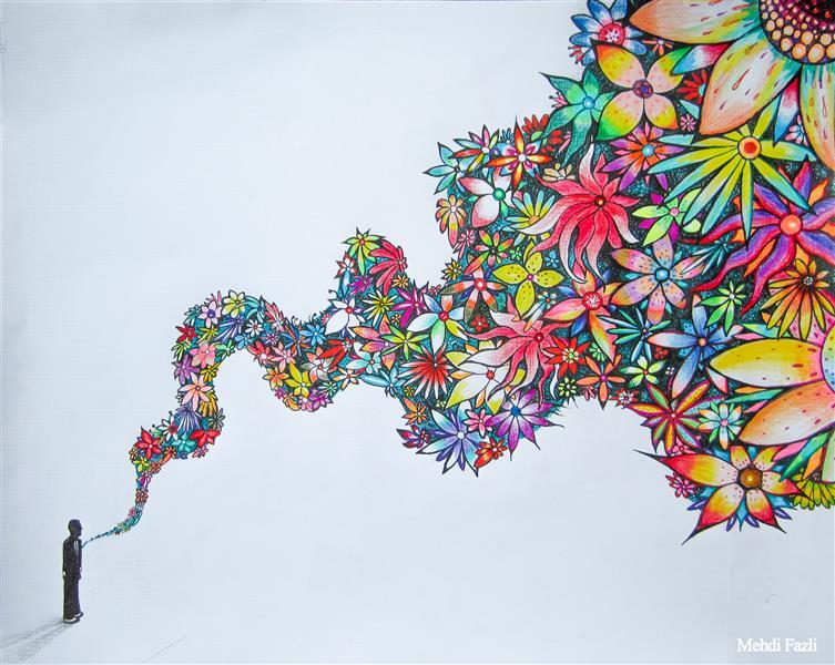 هنر نقاشی و گرافیک تصویرسازی Mehdi Fazli با سلام خدمت همگی همکاران عزیزم سایز اثر بهمراه قاب : ۳۰*۴۰ تکنیک: مداد . مداد رنگی . راپید تخیل گرایی . تصویر سازی فراواقعیت گرایی