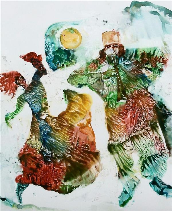 هنر نقاشی و گرافیک تصویرسازی حسین اسماعیلی #آمد بهار جانها ای شاخ تر برقصا