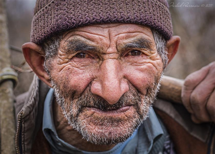 هنر عکاسی عکاسی پرتره هنری Farhad multi art #پرتره #پیرمرد #آغوزچال_املش