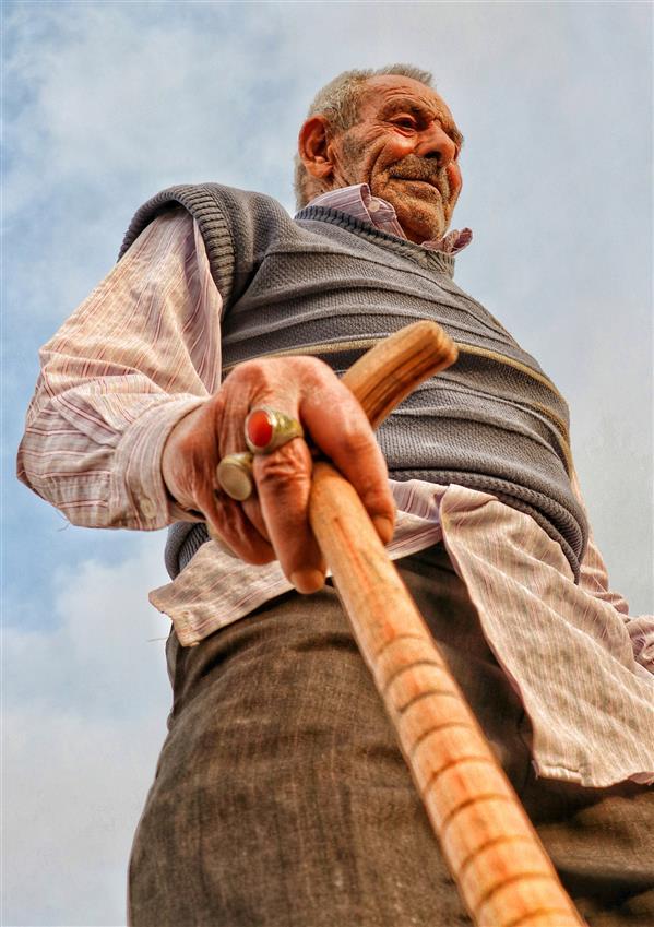 هنر عکاسی عکاسی پرتره هنری صبریه خراسانی #پدربزرگ