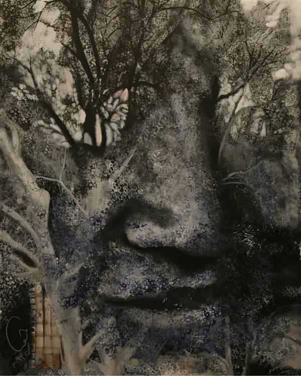 هنر نقاشی و گرافیک نقاشی سورئال حورا پیشقدم #امید اکریلیک، مختلط، چاپ روی بوم 60*80 #حوراپیشقدم