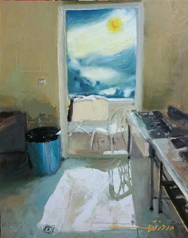 هنر نقاشی و گرافیک نقاشی سورئال بهروز قدمی 40×50/رنگ روغن/تابش آفتاب