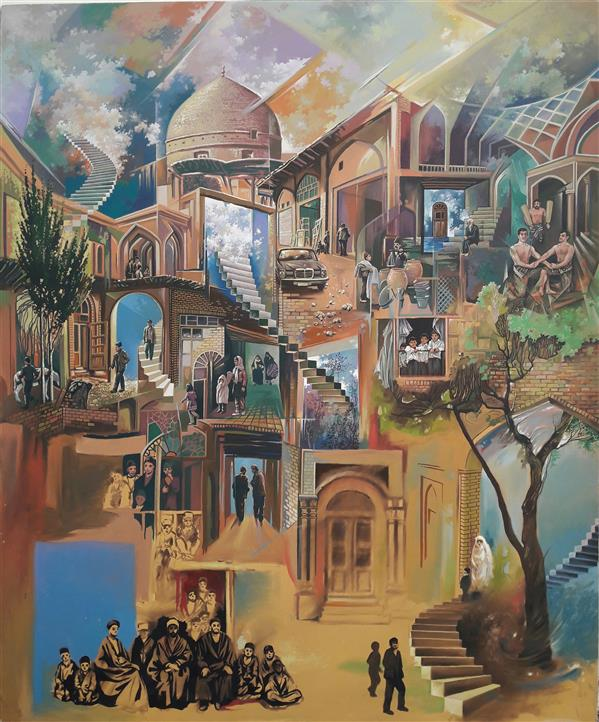 هنر نقاشی و گرافیک نقاشی سورئال بوژان رحیمی رنگ و روغن روی بوم#۱۲۰×۱۰۰سانتیمتر