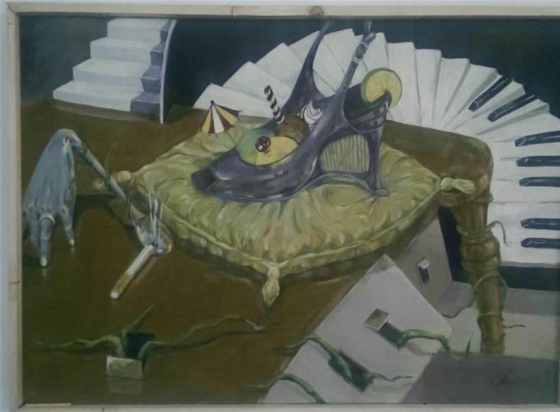 هنر نقاشی و گرافیک نقاشی سورئال مطهره حیدرپور #ابعاد 50*70 #رنگ روغن روی بوم