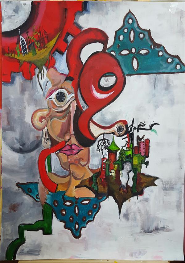 هنر نقاشی و گرافیک نقاشی سورئال الهام طالب تبار