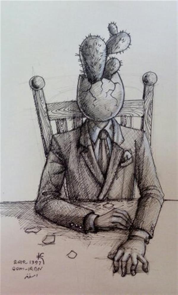 هنر نقاشی و گرافیک نقاشی سورئال علی فلاح کردی