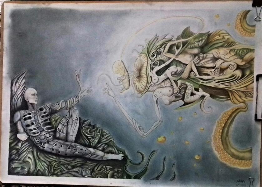 هنر نقاشی و گرافیک نقاشی سورئال نوید سرمدی  Prometheus