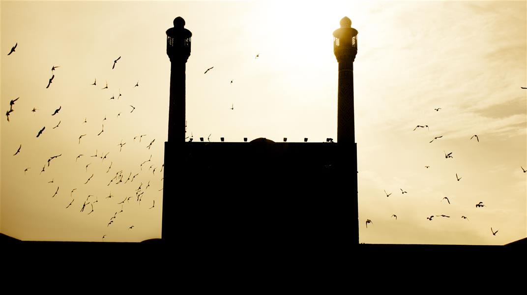 هنر عکاسی عکاسی سیلوئت یا ضد نور خانه ایده #مسجد _جامع_اصفهان