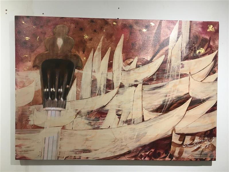 هنر خوشنویسی نمایشگاه بخوان ای خسرو آواز ایران 100honar طاهره الله دادیان 100 در 70
