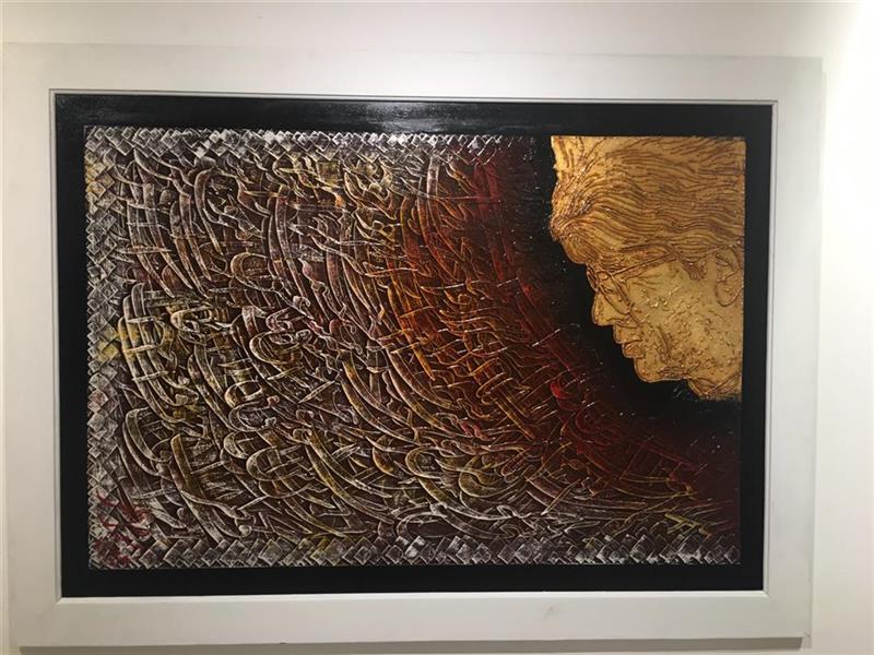 هنر خوشنویسی نمایشگاه بخوان ای خسرو آواز ایران 100honar مسعود فضل اللهی 100 در 70