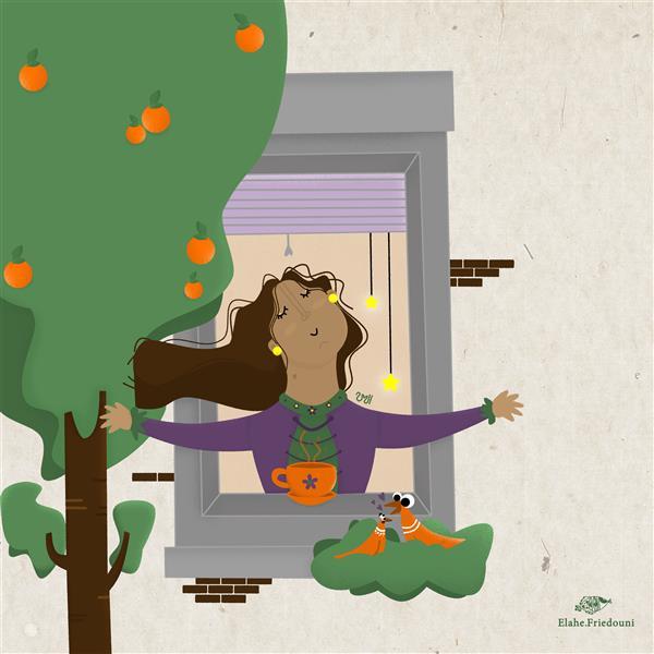 هنر نقاشی و گرافیک نقاشی پنجره الهه فریدونی موضوع : باز کن پنجره را و بهاران را باور کن🍃 ابعاد : 30 در 30 تکنیک :دیجیتال #تصویرسازی #تصویرگری #تصویرگر #illustration #illustrator