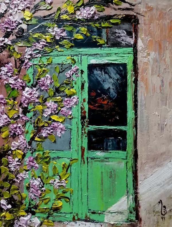 هنر نقاشی و گرافیک نقاشی پنجره مینا بختیاری فروخته شد #کاردک #رنگ_روغن باز کن پنجره را و بهاران را باور کن ابعاد: ۳۰ در ۴۰