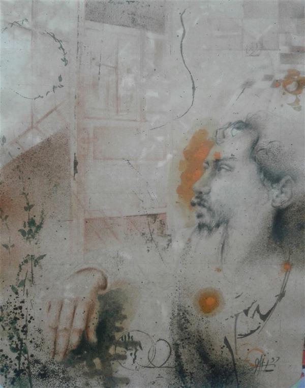 هنر نقاشی و گرافیک نقاشی پنجره سیدمحمد نقیب 18*24  ترکیب مواد روی مقوا(از مجموعه خاطره)زندگی، فهم نفهمیدن هاست زندگی، پنجره ای باز، به دنیای وجود تا که  این  پنجره باز است، جهانی با ماست(سپهری)