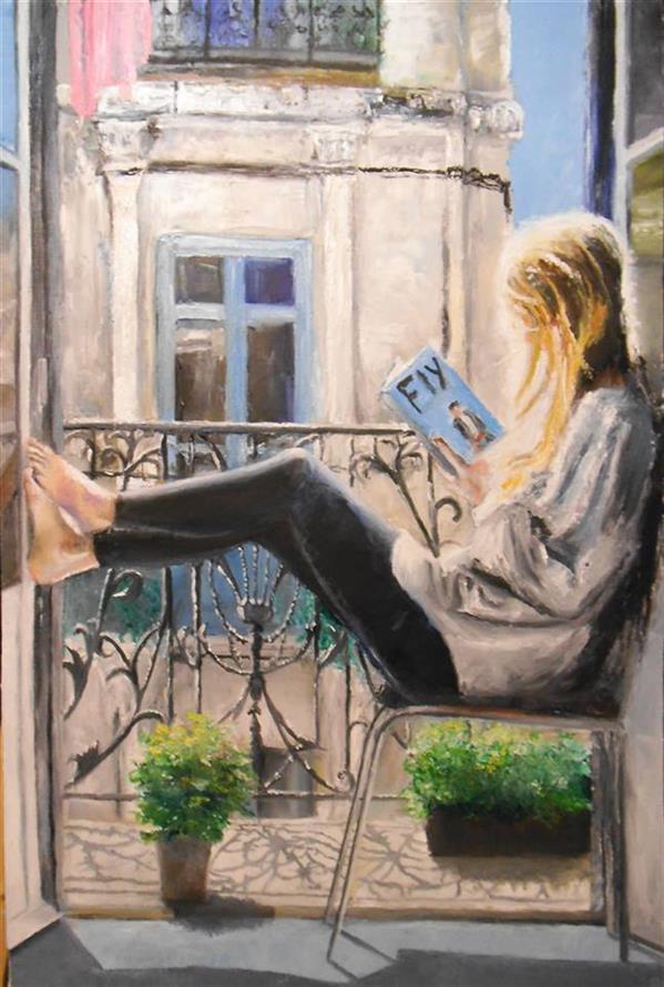 هنر نقاشی و گرافیک نقاشی پنجره saeid saadat رنگ و روغن - 60 * 40 سانتیمتر - روی بوم  نام اثر پرواز