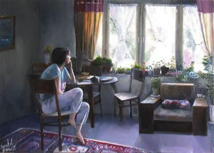 هنر نقاشی و گرافیک نقاشی پنجره saeid saadat رنگ و روغن - 70 * 50 - روی بوم  بدون عنوان