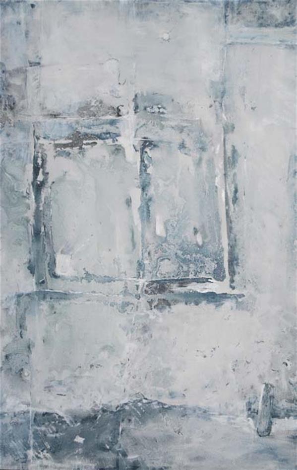 هنر نقاشی و گرافیک نقاشی پنجره حسین اسماعیلی پنجره ای به گذشته #میکس مدیا #مدرن#انتزاع