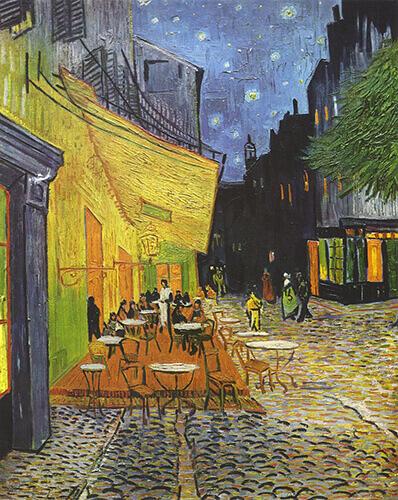 «تراس کافه در شب»